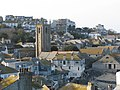 The tower of the parish church rises over the St Ives' rooftops - geograph.org.uk - 1207703.jpg