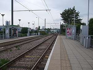 Therapia Lane tram stop - Image: Therapia Lane tramstop look west