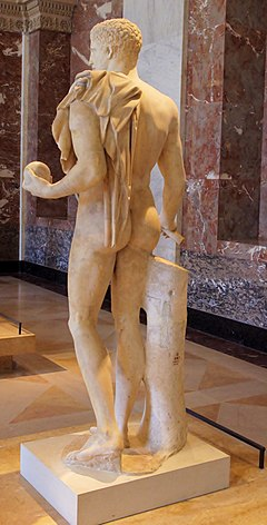 Third Century BC Roman Copy of Classical Greek Male Nude of Doimede from 440 - 430 BC (Rear View) (14228153497).jpg