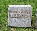 Thomas Brooks Fletcher Tombstone at Mechanicstown Ohio.jpg