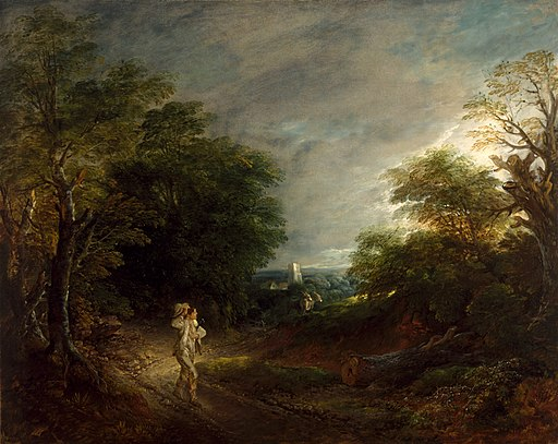Thomas Gainsborough - Wooded Landscape with a Woodcutter - 61.9 - Museum of Fine Arts