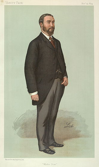 "Thomas Henry Ismay - ""White Star"". Caricature by Lib published in Vanity Fair in 1894."