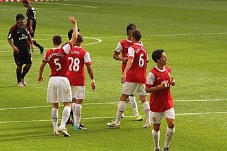 Thomas Vermaelen - Vermaelen (left) with Arsenal in 2010.