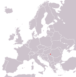 Location of Timişoara