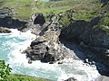 Tintagel king Aurthur island into one of the coves - panoramio.jpg