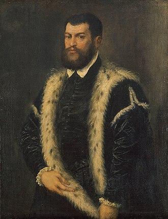 Gallery of Archduke Leopold Wilhelm in Brussels (Schleissheim) - Image: Titian.Manwith Ermine Coat 01
