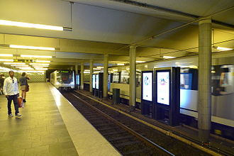 Oslo Metro - Jernbanetorget station in the Common Tunnel