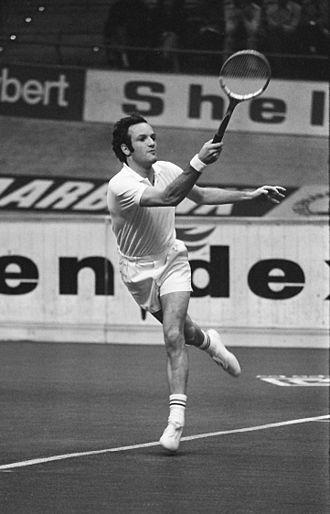 Tom Okker - Tom Okker at the 1972 Rotterdam Indoors