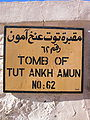 Tomb of Tutankhamun sign.jpg