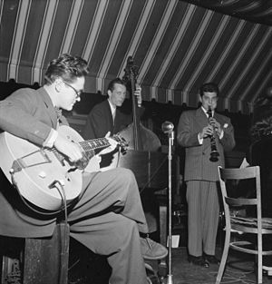 Toots Thielemans - Toots Thielemans (left) and Joe Marsala (right), c. 1947 Photography by William P. Gottlieb