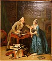 Torn between science and marriage, by Georg Melchior Kraus, c. 1770-1776, oil on canvas - Germanisches Nationalmuseum - Nuremberg, Germany - DSC03819.jpg