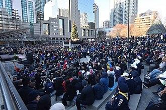 Toronto van attack - Image: Toronto Strong Vigil at Mel Lastman Square 2018 (26936913367)