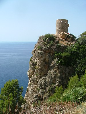 Guard tower - Torre del Verger, guard tower located at Banyalbufar, Majorca, Spain.