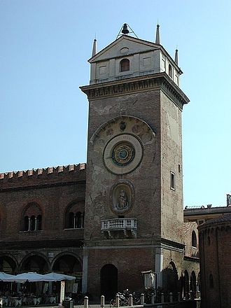 Luca Fancelli - The tower of the Palazzo della Ragione, Mantua, constructed by Luca Fancelli in 1473.
