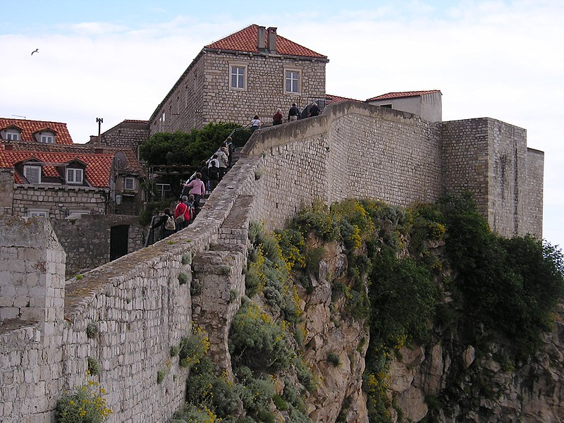 Dubrovnik city walls. From Highlights of a Dubrovnik Trip