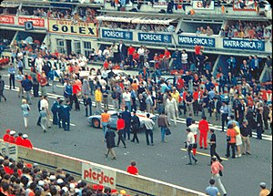 Le Mans (film) - Filming on circuit de la Sarthe, during 1970 24 Hours of Le Mans race.