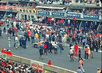 Le Mans (film) - Filming on circuit de la Sarthe, during 1970 24 Hours of Le Mans race.