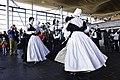 Traditional Welsh dress and dance, Senedd, St David's Day 2009 Gwisgoedd a dawnsio traddodiadol Gymreig, Senedd, Dydd Gŵyl Dewi 2009.jpg