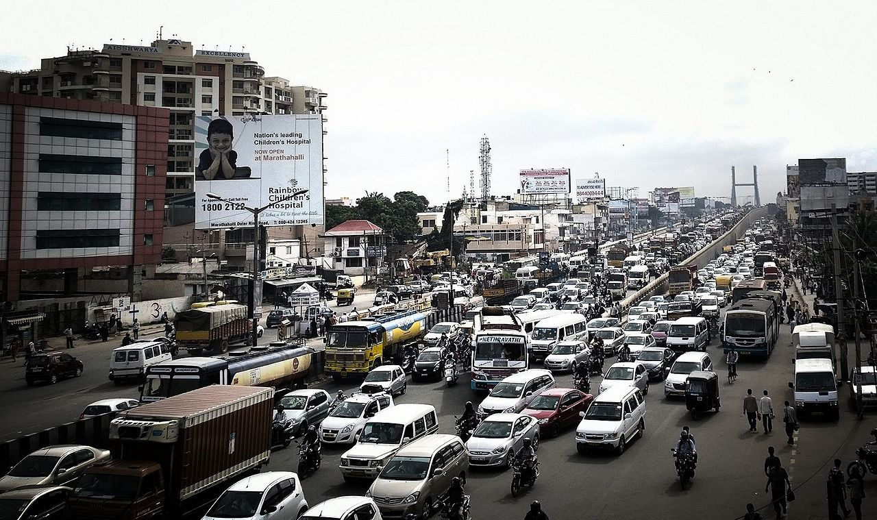 Peak traffic in Bangalore