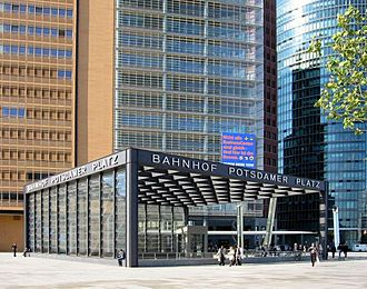 Berlin Potsdamer Platz station - Image: Train station Berlin Potsdamer Platz