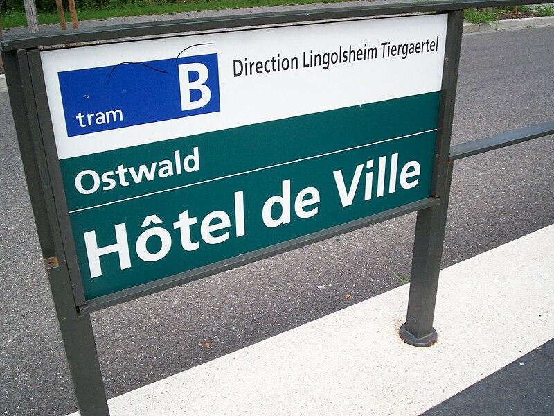 Signalétique à Ostwald Hôtel de Ville