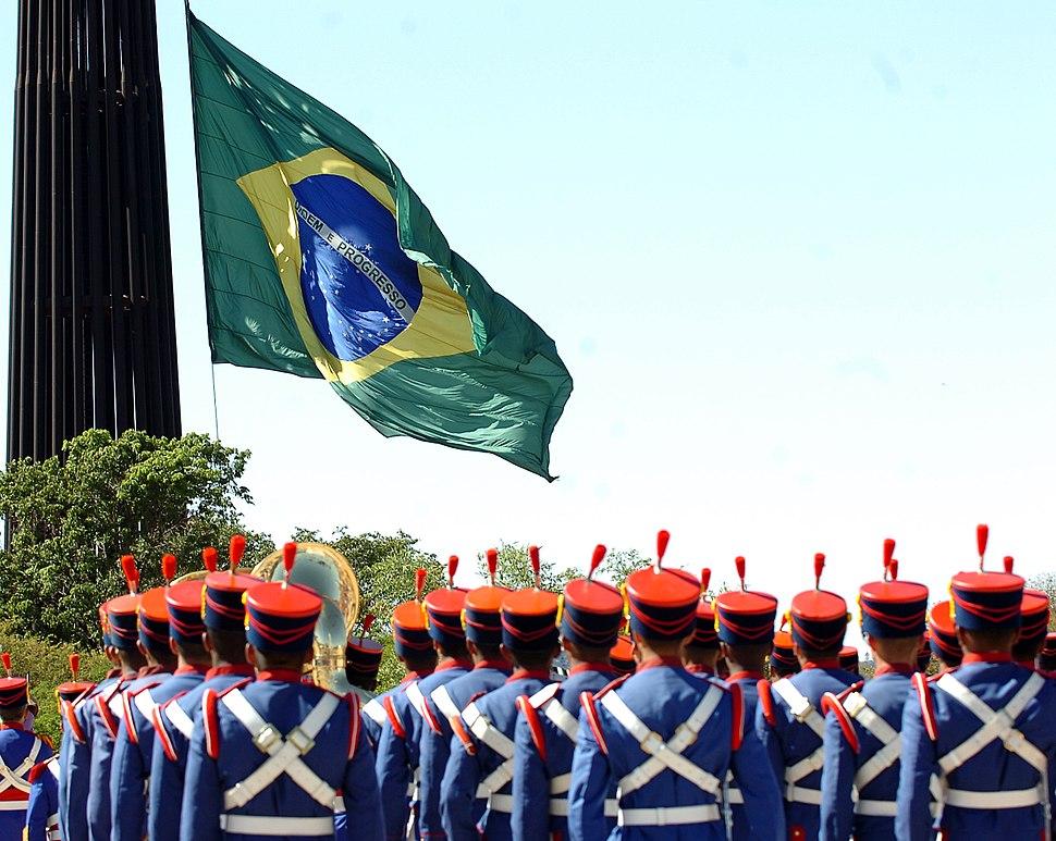 Troca da bandeira na Praça dos Três Poderes, 5 de agosto de 2007