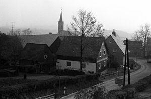 Tschirn - Image: Tschirn Ortsschild 1983