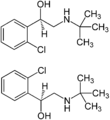 Tulobuterol Enantiomers Structural Formulae.png