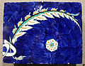 Turchia, iznik, mattonella con foglie stilizzate, 1570-80 ca. 04.JPG