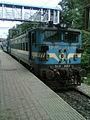 Twin KZJ based WAG-7 locos at Bharathnagar.jpg