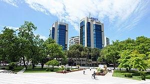 Dëshmorët e Kombit Boulevard - Image: Twin Towers Tirana, Albania 2017