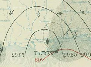 1911 Atlantic hurricane season - Image: Two 1911 08 12 weather map