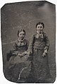 Two girls in matching outfits, ca. 1856-1900. (4731906713).jpg