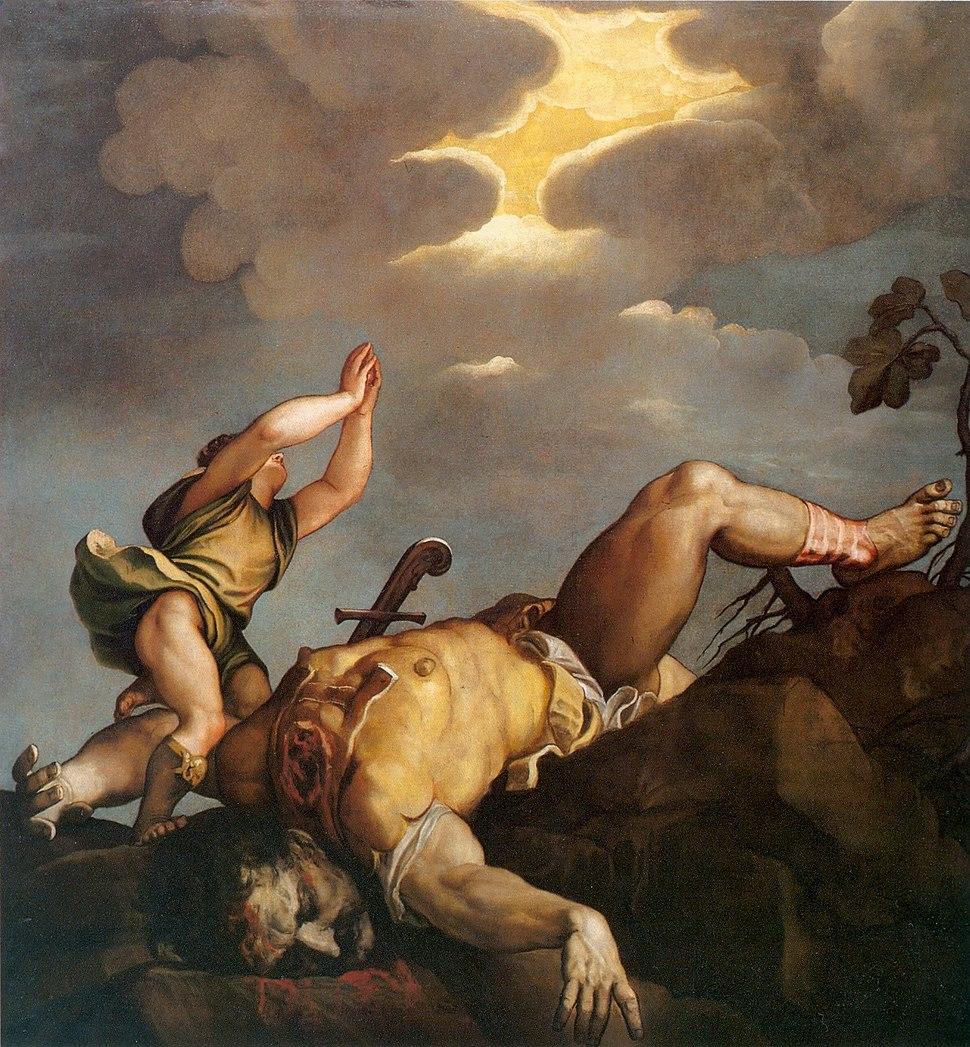 Tycjan David i Goliat