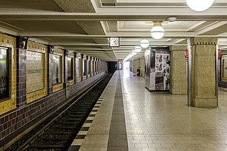Hohenzollernplatz (Berlin U-Bahn) - Platform of the station
