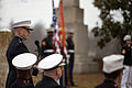 U.S. Marine Corps Col. David Maxwell, base commander, Marine Corps Base (MCB) Quantico, delivers a speech during the commemoration of the commemoration of the 263rd anniversary celebration of former president 140316-M-QJ238-020.jpg