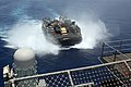 U.S. Navy Landing Craft Air Cushion 36, assigned to Assault Craft Unit 4, approaches the amphibious assault ship USS Kearsarge (LHD 3) in the Gulf of Aden May 25, 2013 130525-N-UM734-076.jpg