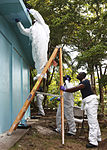 U.S. Sailors embarked aboard the amphibious assault ship USS Iwo Jima (LHD-7) paint a school in Limon, Costa Rica, Aug. 23, 2010, during Continuing Promise 2010 100823-M-PC721-100.jpg