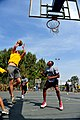 U.S. Soldiers, assigned to 5th Battalion, 7th Air Defense Artillery Regiment, and Israeli Defense Forces soldiers compete in a basketball game during a field competition in Hazor, Israel 121101-F-QW942-560.jpg