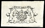 South Carolina colonial currency, 60 dollars, 1779 (reverse)