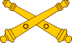 Field Artillery Branch (United States) - Field Artillery branch insignia, featuring two crossed field guns