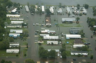Hurricane Dolly (2008) - Flooding in southern Texas, as taken from a United States Coast Guard aircraft