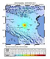 USGS Shake Map - May 29 M 5.4 earthquake - 3km NW of Cavezzo - 2012 Northern Italy earthquake.jpg