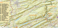 USGS relief-Broad Mountain and Terrains it dominates west of the Lehigh Gorge and north of Tamaqua, Nesquehoning and Jim Thorpe, PA.png