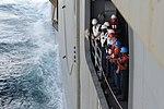 USS Bataan RAS personnel-transfer basket 140911-N-YC845-001.jpg