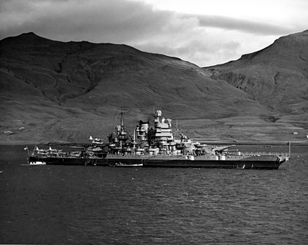 Idaho off Iceland in 1942, showing her post-1934-refit configuration USS Idaho BB-42.jpg
