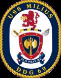USS Milius DDG-69 Crest