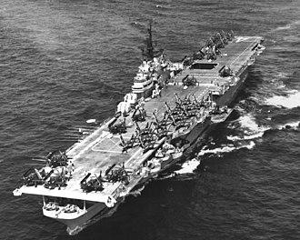 Battle of P'ohang-dong - Image: USS Philippine Sea (CVA 47) underway off Korea on 3 May 1953 (80 G 629442)