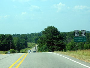 U.S. Route 71 - US 59/US 71 south of Lockesburg