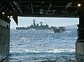 US Navy 040706-N-4304S-106 A Landing Craft Utility (LCU) approaches the well deck of the amphibious assault ship USS Tarawa (LHA 1).jpg